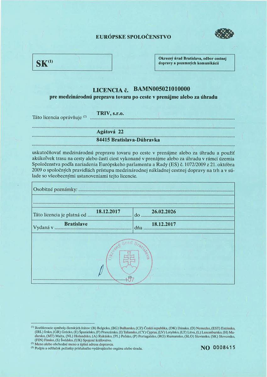 Eurolicencia - 2017 - 2026