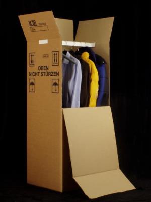 Kartónová krabica na šaty s ramienkom - výška 110 cm