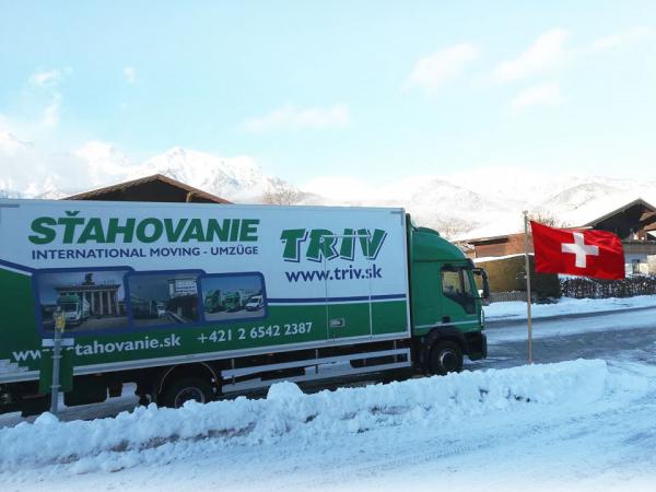 Sťahovanie do Švajčiarska - preprava zásielky do / zo Švajčiarska